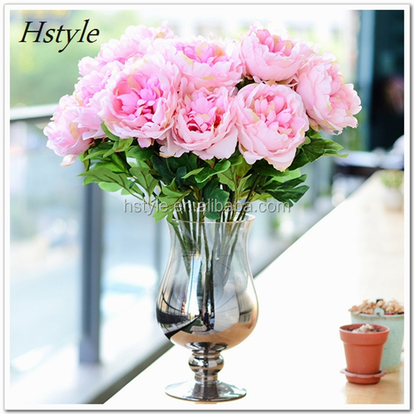 Plastic Cheap Artificial Hydrangea Flowers Single Stem FZH137