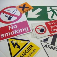 Corrugated plastic safety sign board