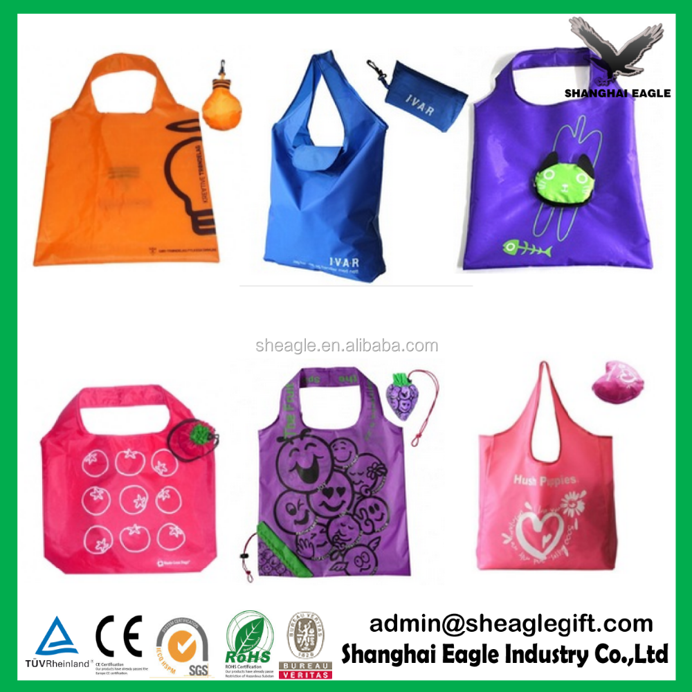 Customized Polyester wholesale new foldable bag for promotion with Shoulder Straps