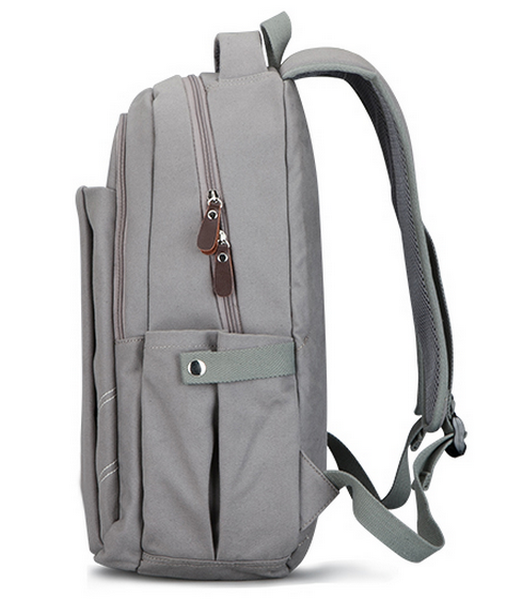 Newest Style Simple Design Grey Laptop Backpack