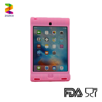 Available For iPad Mini 4 Kid Proof Eco Friendly Silicone Tablet Case Built in Stand Cover
