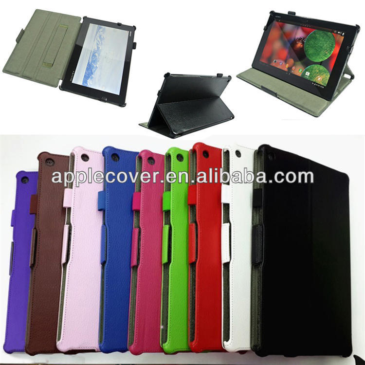 Litchi Leather Handle Case for Sony xperia Tablet Z