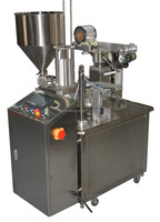 rotary plastic cup filling and sealing machine