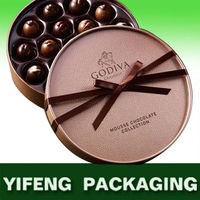 round packaging boxes chocolate chocolate truffles