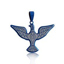 316L stainless steel fly eagle pendant , blue eagle necklace for lady men party gift anniversary