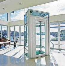 Small glass home elevator automatic door residential lift villa elevator comfortable and convenient