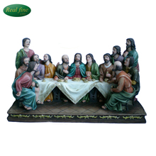 customized newest resin last supper for home decoration
