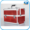 Aluminum professional red Beauty Cosmetics makeup Vanity Salon Case