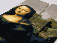 Mona Lisa /mens fashion arts socks/girl wearing crew socks