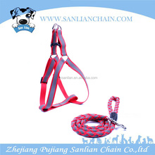 2016 braided nylon rope dog leash high-end reflector dog harness