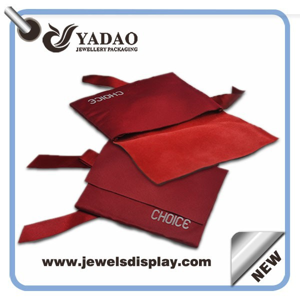Classic red velvet pouch mobile pouch jewelry bag for wedding ring bag