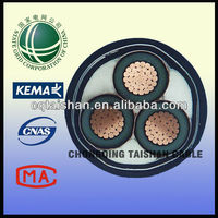 Standard Power Cable Size15kV XLPE Insulated 3x240mm2