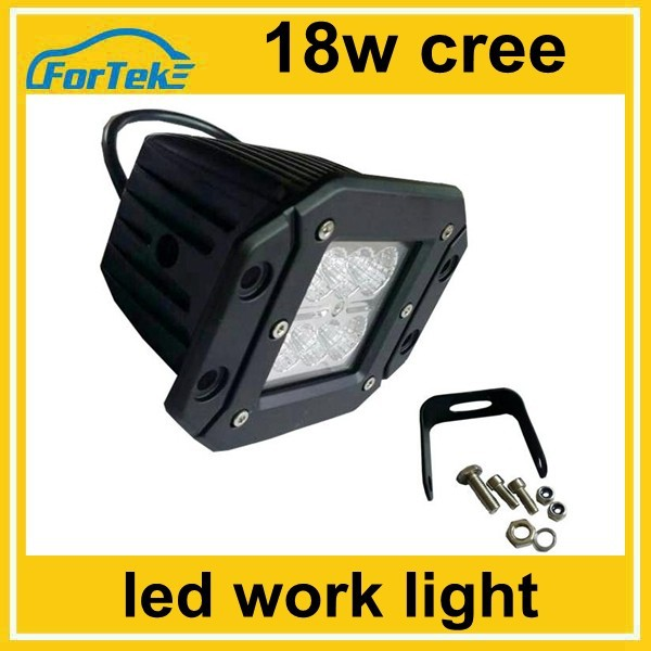 flush mount led work light 18W cree for car front driving light