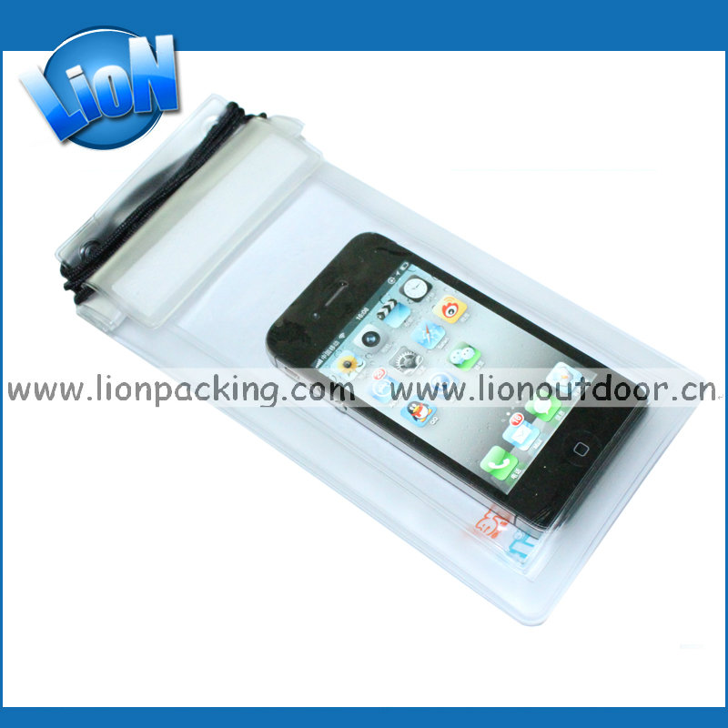 Transparent waterproof dry bag for mobile phone and camera