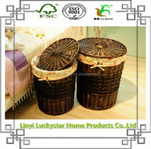 Black House Keeping Storage Wicker Laundry Basket For Home