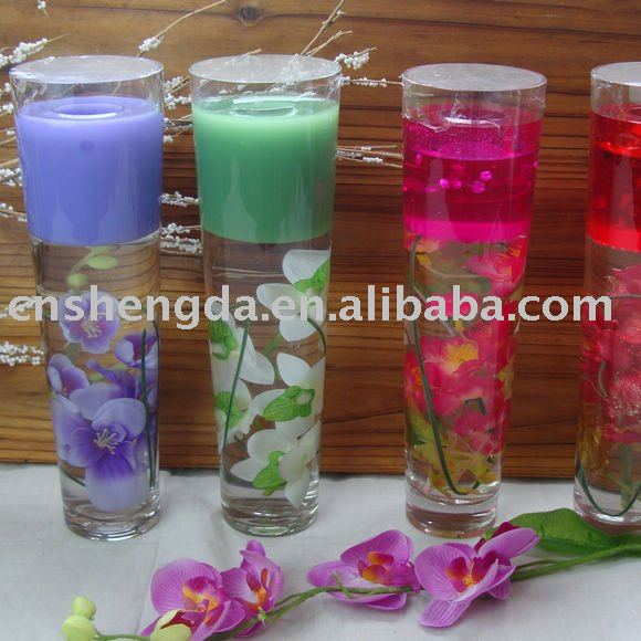 home decoration gel candle(glass candle holder), jelly candle, candles
