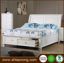 White MDF wood bed designs