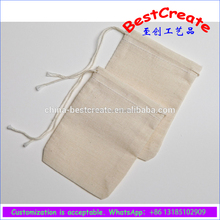 Cotton Muslin Bags pouch 3x4 Inch Drawstring 25 Count Pack