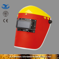 red paper safety welding mask, welding helmet and cutting helmet made in china WM067