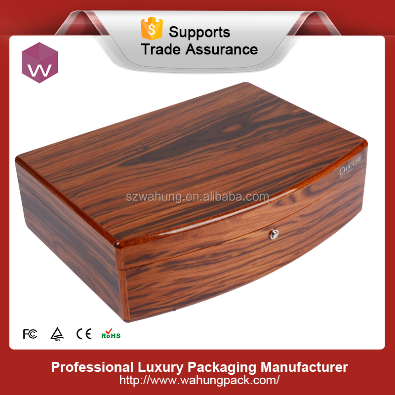 piano painting wooden jewelry collection box with mirror