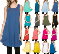 OEM plain solid plus size tank tops women,fashion summer sleeveless shirts tops lady,wholesale tank tunic designs manufacture