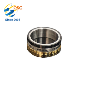 Crafted and custom hand made cheap wholesale stainless steel finger ring