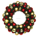 Christmas wreath with decorative balls