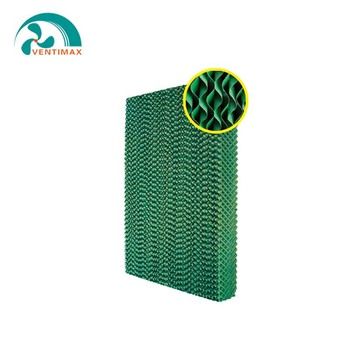 honeycomb pad and fan greenhouse cooling systems