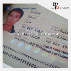 Hologram soft touch lamination film material for id card laminating film