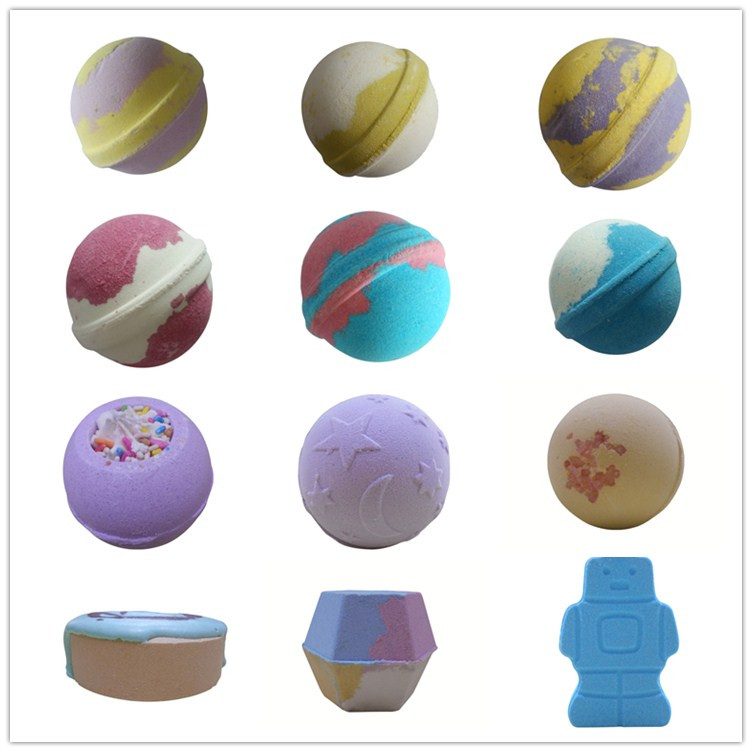 Wholesale handmade customized package bulk bath bomb