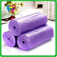 wholesale Custom Made Plastic Bags Durable Purple Garbage Bag on Roll
