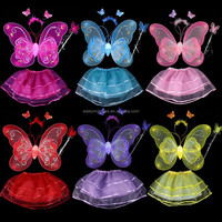 4 Piece Fairy Princess Butterfly Party Costume Set