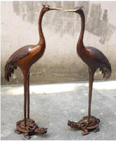 113cm high crane on tortoise statue/copper sculpture fengshui decor bronze statue
