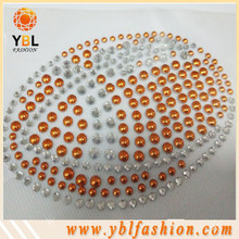 Sports clothing baseball hotfix rhinestone motif designs
