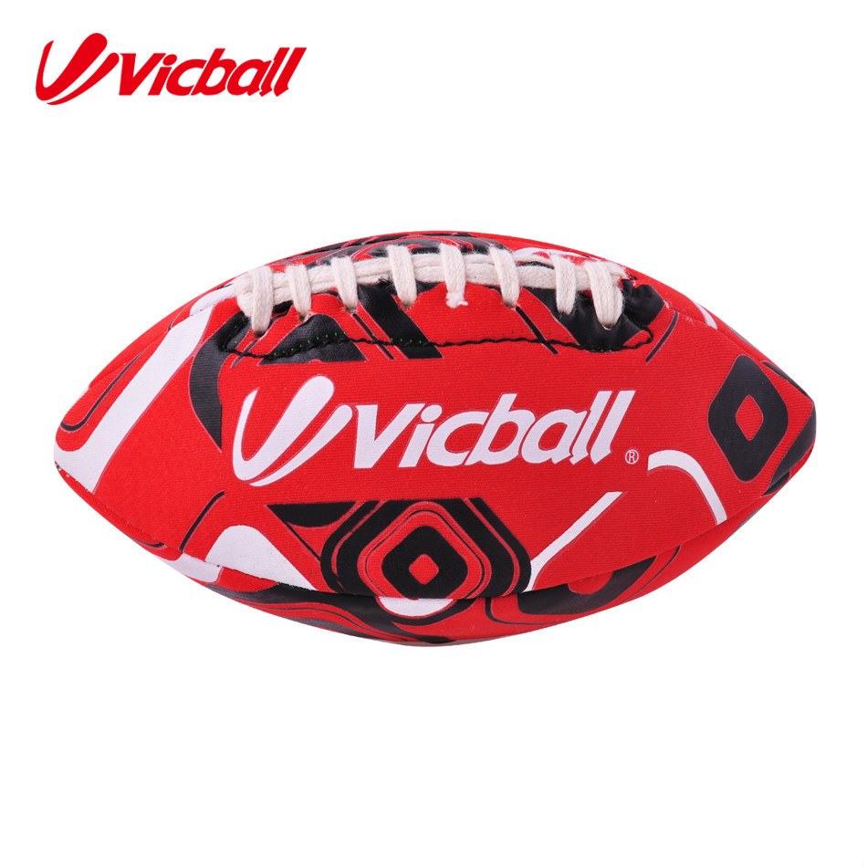 2017 size 9 machine stitched grain PVC American football
