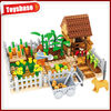 Plastic toy farm animals,happy build block farm toys set