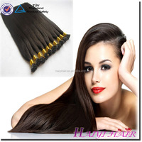 Wholesale Russian Double Drawn 1.0g/Strand Silky Straight Keratin hair