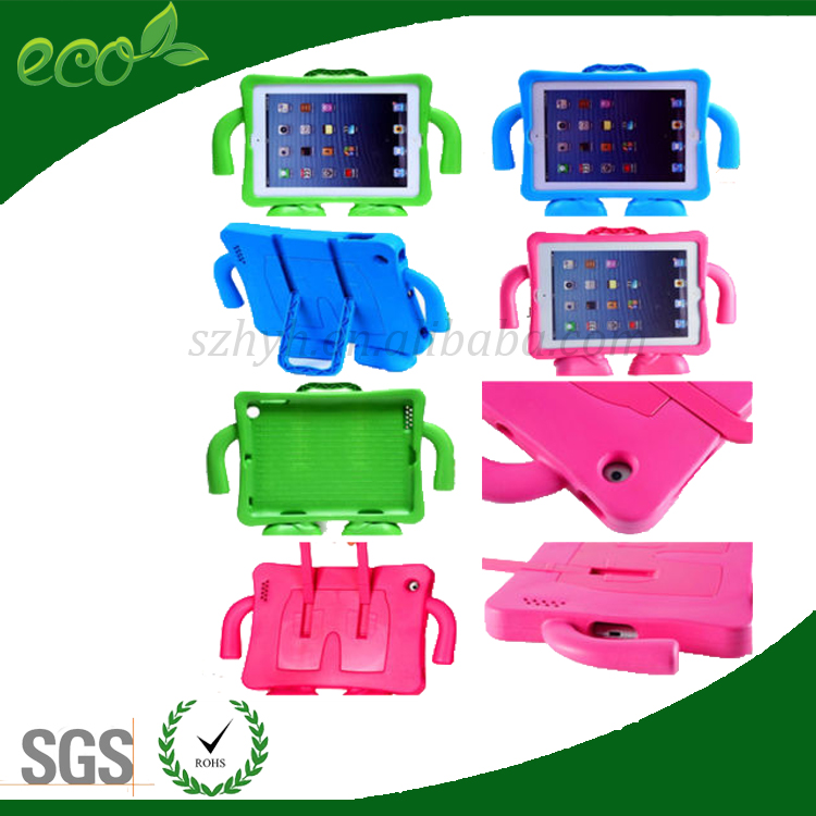 new arrival rubber stand bumpers waterproof silicone back handle EVA foam tablet pc cover tablet case for ipad 2 ipad 3 ipad 4