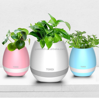 high-tech Music Flower Play the piano smart touch Wholesale Plastic Flower Pot