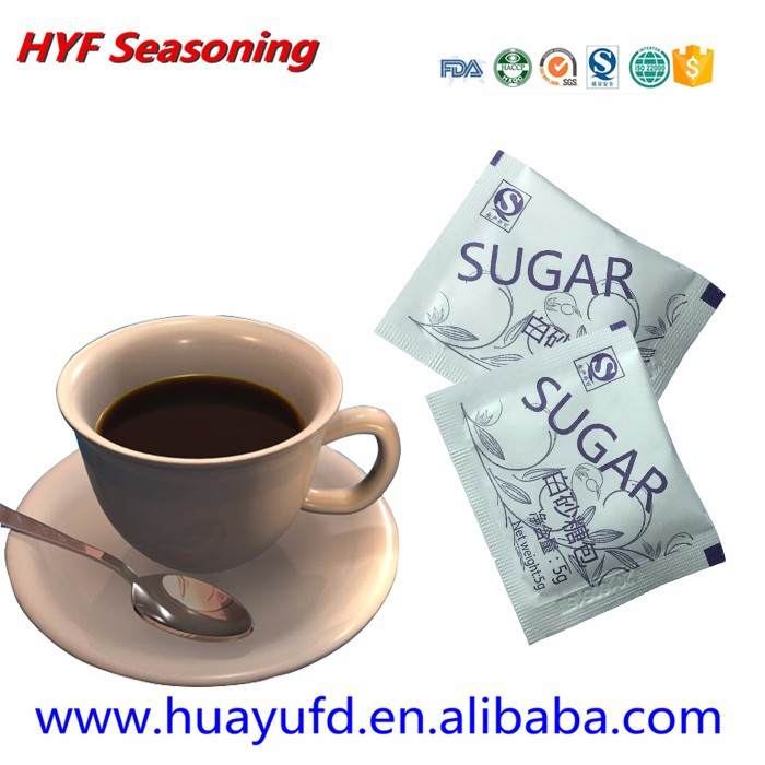 (Video show) food condiment packet sugar sachet stick in cafes