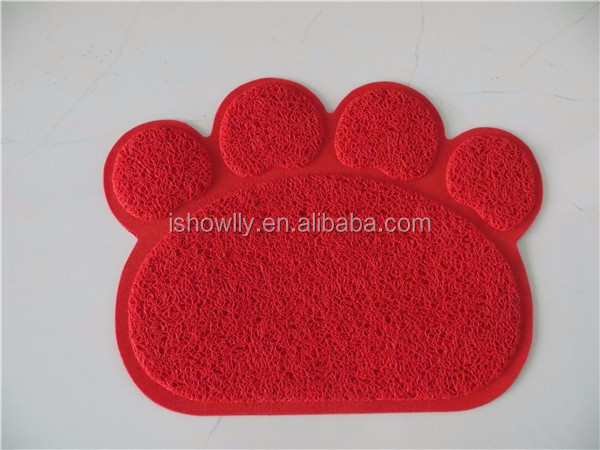 Pet Paw shape print PVC dirty dog door mat