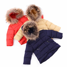 Bulk Heavy Branded Canada Bomber Girls Kids Goose Duck Down Baby Winter Jacket for Children