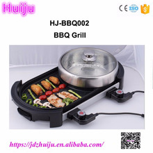 Double temperature control electric bbq grill/portable bbq hot sale HJ-BBQ002