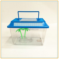 Free sample mini Plastic aquarium fish tank with Cover and handle