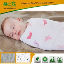 Polyester baby muslin blanket with strip/microfiber throw