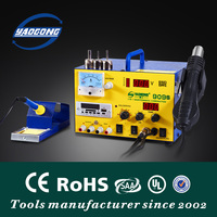 YAOGONG 909S soldering station with DC power supply hot air 3 in 1 rework station