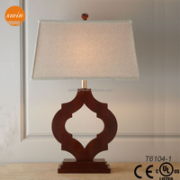 2015 Fashion new design wood table lamp,home goods table lamp
