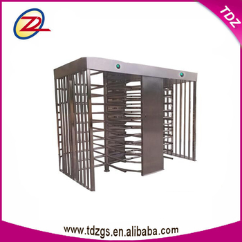 automatic passenger dual channel electronic full height turnstile
