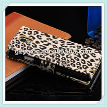 Competitive fancy leopard wallet stand phone case for samsung note3 n9000