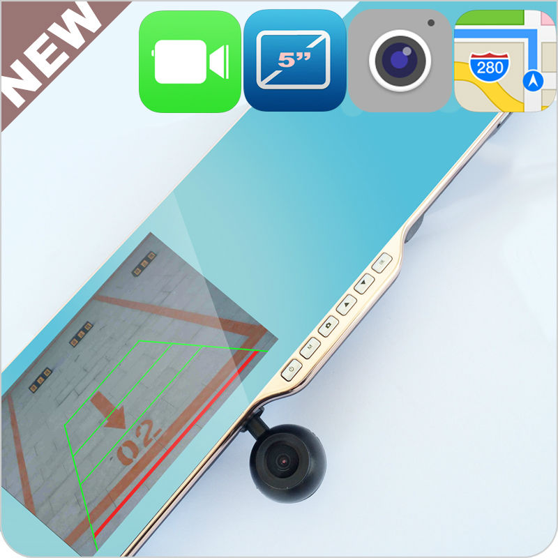 5 inch factory auto dimming rearview mirror Wifi 512MB/8GB DVR AV IN Android 4.0.4 GPS Navigation